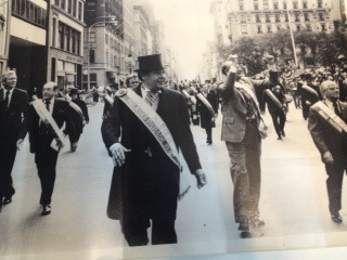 John Lindsay and Bob Wagner on the left, and Ed Koch and Abe Beame on the right of our own Tom Poster in the lead at the 1978 Pulaski Day Parade.