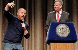 Louis C. K. translates the mayor's statement.